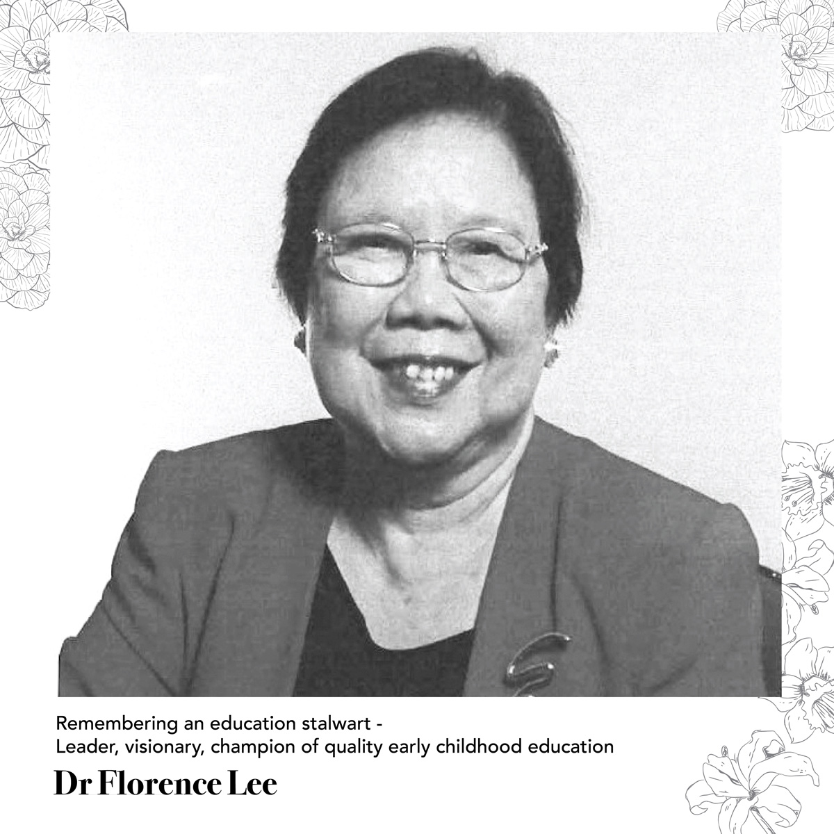 Remembering Dr Florence Lee